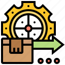 assembly, manufacture, operator, process, production icon