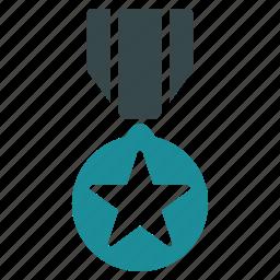 army, award, badge, medal, reward, star, tournament icon