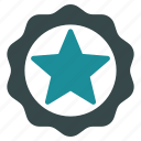 award, best, quality, seal, star, win, winner icon