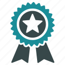 achievement, award, favorite, guarantee, mark, medal, prize icon