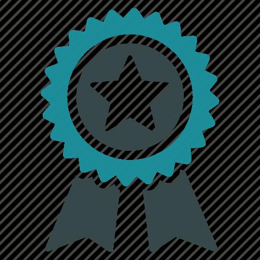 achievement, award, favorite, guarantee, mark, medal, prize icon