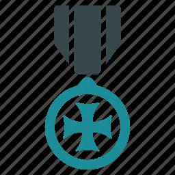 award, cross, hero, honor, maltese, medal, winner icon