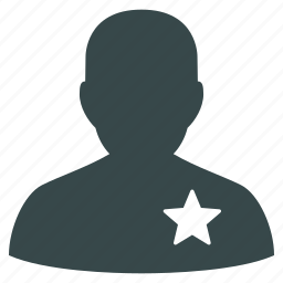 account, avatar, man, person, profile, sheriff, star icon