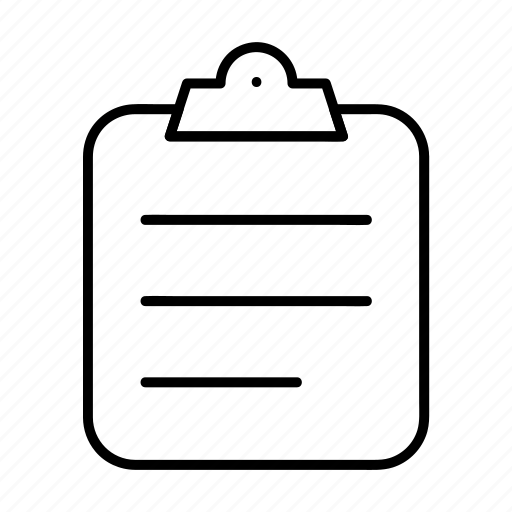 clipboard, document, exam, paper, report icon