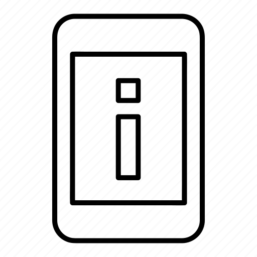 cell, details, device, info, mobile, phone, smartphone icon