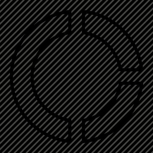 analytics, business, chart, donut, graph, statistics icon