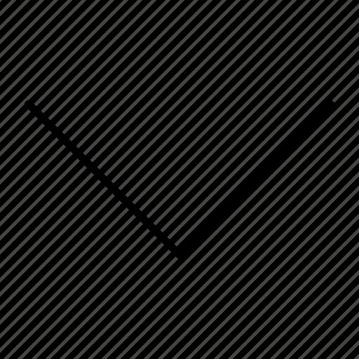 arrow, direction, down, move, navigation icon