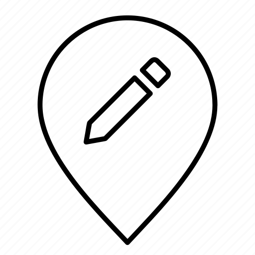 create, edit, gps, location, map, marker, pin icon