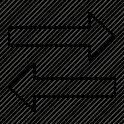 arrows, compare, exchange, receive, transfer icon