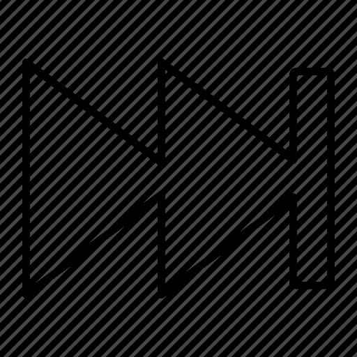 arrow, audio, fast, forward, next, player icon