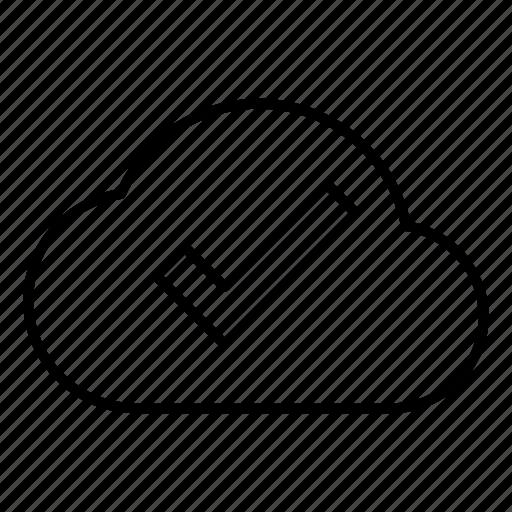 check, cloud, database, done, server, storage, verify icon