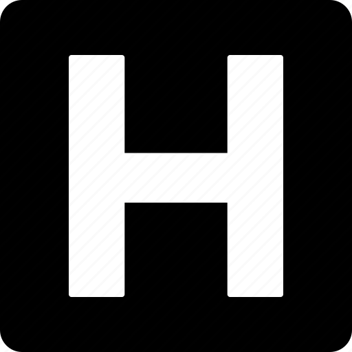 H, medical, sign, clinic, letter, hospital icon