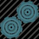 complex, engine, gears, parts, spare icon