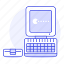 1, computer, game, old, pacman, pc, retro, video, vintage icon
