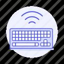 computer, keyboard, keyboards, wireless icon