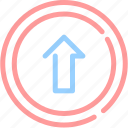 arrow, file, upload icon