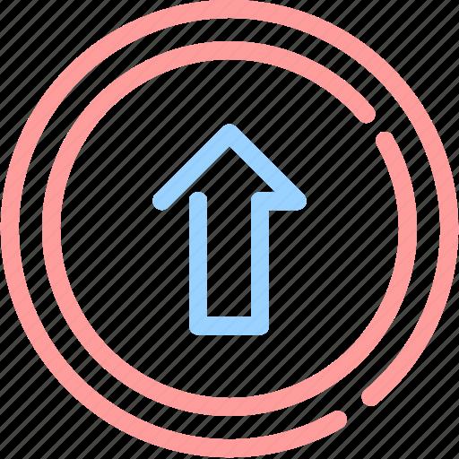 arrow, file, upload icon