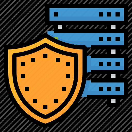 computer, security, shield, storage icon