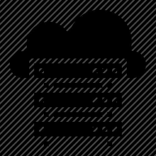 cloud, computer, network, server, storage icon