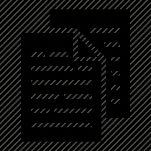copy, data, document, flie icon