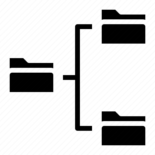 data, folder, link, share icon