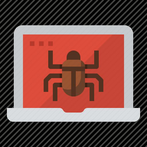 bug, coding, computer, malware icon