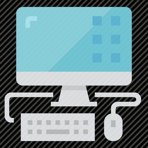 computer, desktop, technology, workstation icon