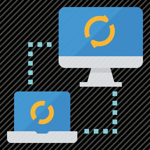 data, synchronous, transfer, transmission icon