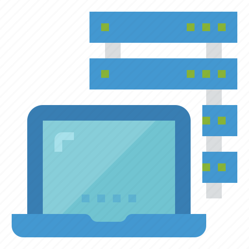 database, hosting, network, server, technology icon