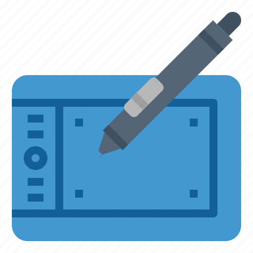 drawing, pen, tablet, technology icon