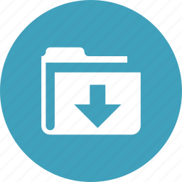 arrow, documents, down, downloads, guardar, save, store icon