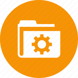 archive, file, folder, gear, options, settings, storage icon