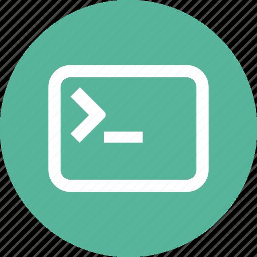 application, command, console, line, program, terminal, window icon
