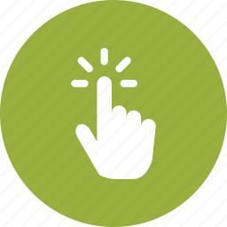 finger, gesture, hand, point, push, swipe, touch icon