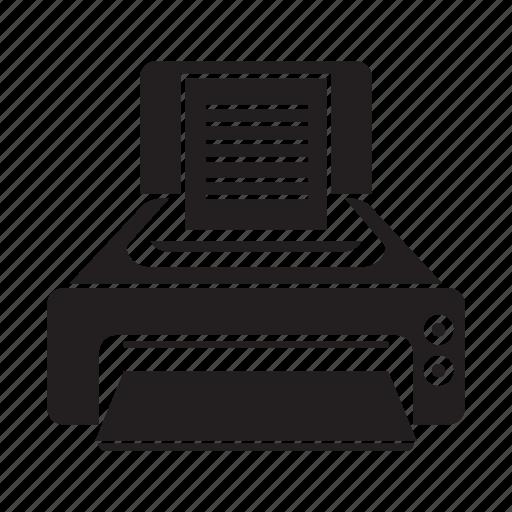 electronic, gadget, printer icon
