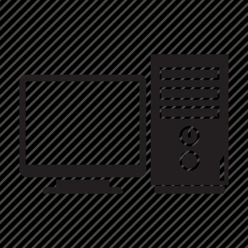 computer, cpu, desktop, electronic, pc icon