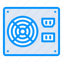 hardware, power, supply icon