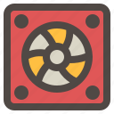 computer, cooler, cooling, fan, hardware icon