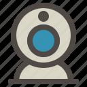 call, camera, computer, hardware, video, webcam icon