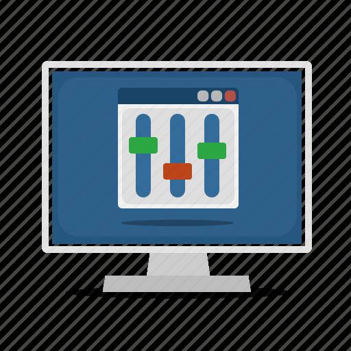 computer, configuration, display, options, setup icon