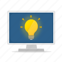 computer, display, idea icon