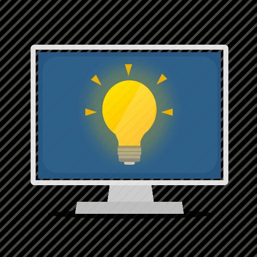 computer, display, idea icon