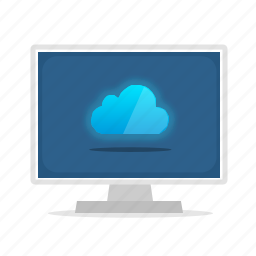cloud, computer, display icon