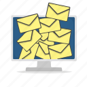 computer, display, email, mail, message icon