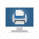 computer, display, printer, virtual printer icon