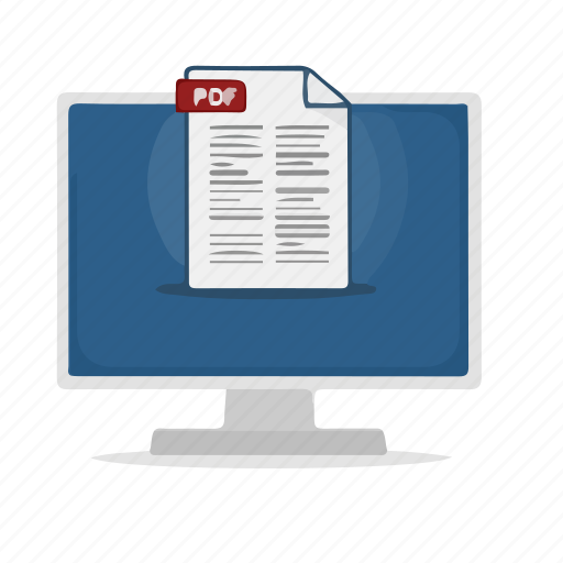 computer, display, document, documents, files icon