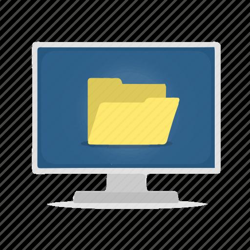 computer, directory, display, folder icon