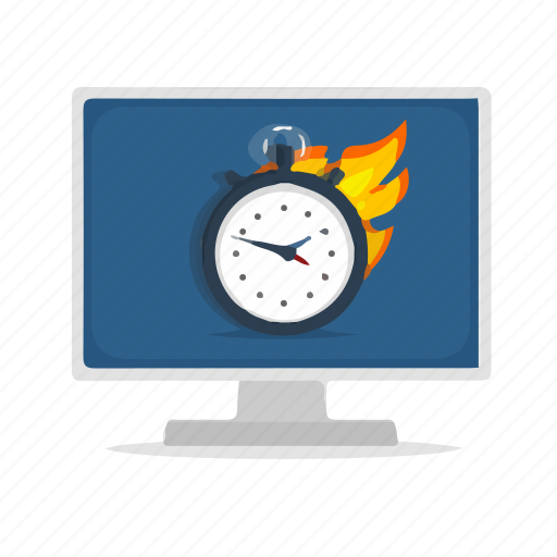 Computer, display, performance, schedule, timer icon - Download on Iconfinder