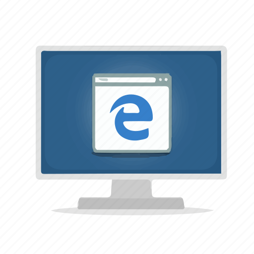 browser, computer, display, edge, internet icon