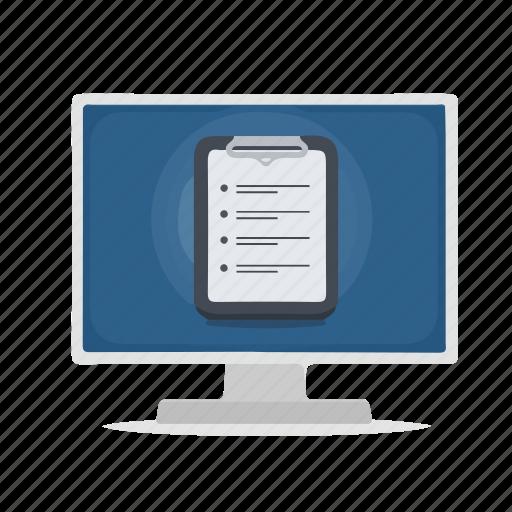 Computer, display, task, task list, tasks, to-do icon - Download on Iconfinder